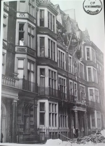 Photo:Damage to 42 Half Moon Street, November 1940