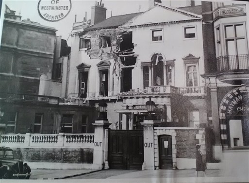 Photo:Damage to the Naval and Military Club, November 1940