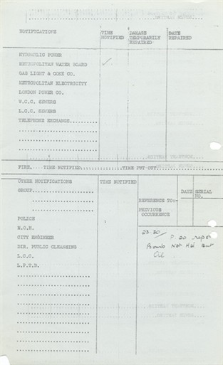 Photo:Incident Report, Regency Street, 8 December 1940