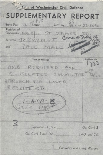 Photo:ARP Supplementary Report, King Street, 23 February 1944