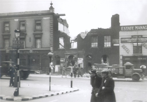 Photo:219 to 221 Vauxhall Bridge Road. 10 November 1940
