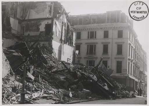 Photo:Bomb damage to 21A Savile Row