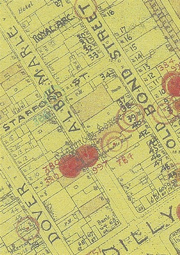 Photo:Bomb Map: Albemarle Street