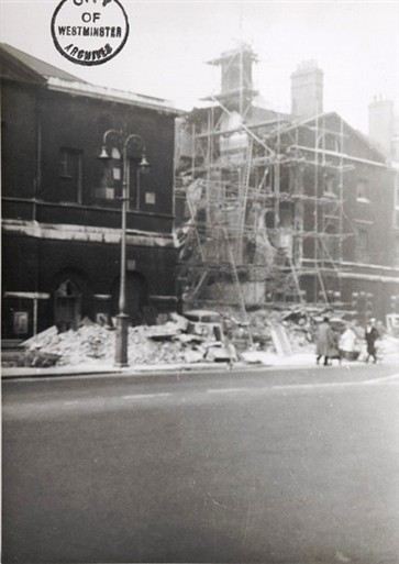 Photo:Damage to Paymaster General's Office, 8 October 1940
