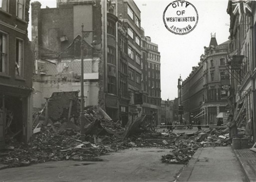 Photo:Bomb damage around Woodstock Street W1