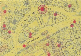 Photo:Bomb Map: V1 flying bomb strike at Aldwych