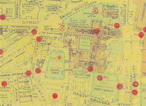 Photo:Bomb Map: Westminster Abbey
