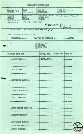 Photo:ARP Report, Home Office, October 1940