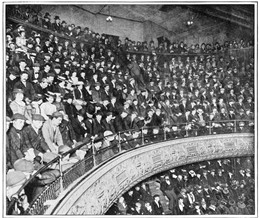 Photo:Costermongers (barrow boys) flocked to the London West End Music Halls to listen and join in with songs that reflected their everyday life.  Music Hall was pure escapism