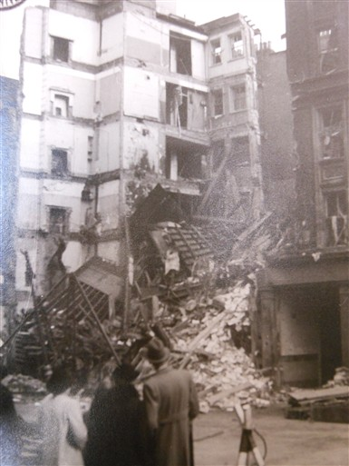 Photo:Damage to the Shaftesbury Avenue Fire Station, October 1940