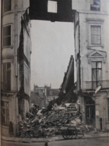 Photo:12 Lowndes Street, September 1940