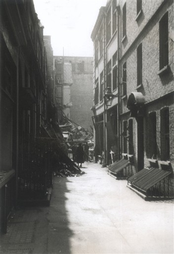 Photo:Diadem Court looking toward Carlisle Street, 11 May 1941
