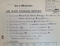 Photo:Air Raid Damage Report, Rutherford Street, 18 June 1944
