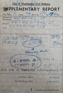 Photo:ARP Supplementary Report, Rutherford Street, 18 June 1944