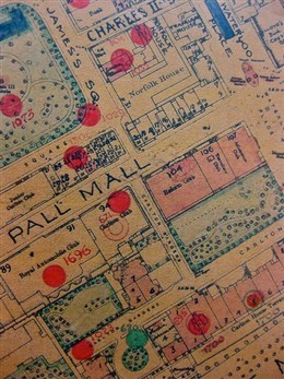 Photo:Bomb Map: Carlton Club, Pall Mall, 14 October 1940