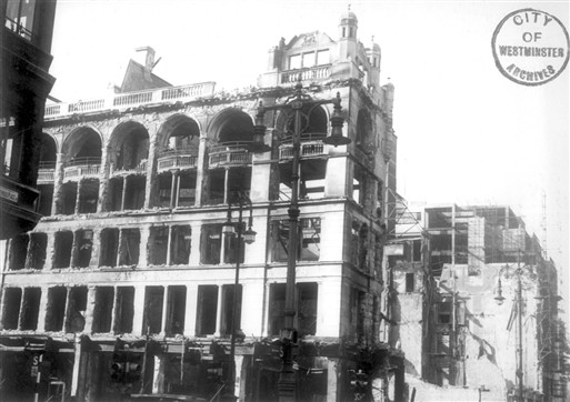Photo:Incendiary Damage to John Lewis (West House), 18 September 1940