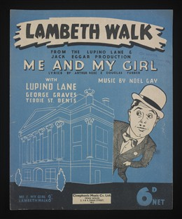 Photo:Lambeth Walk became a popular song shortly before war broke out in 1939.  It is associated with the Pearly Kings and Queens of London -costers who raised money for their community in times of need.