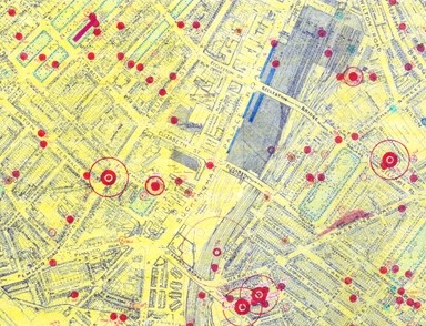 Photo:Bomb Map, Buckingham Palace Road SW1