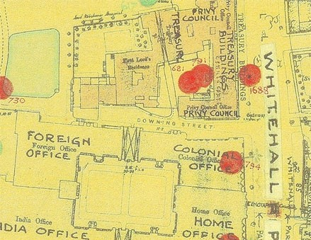 Photo:Bomb Map: Home Office, Whitehall