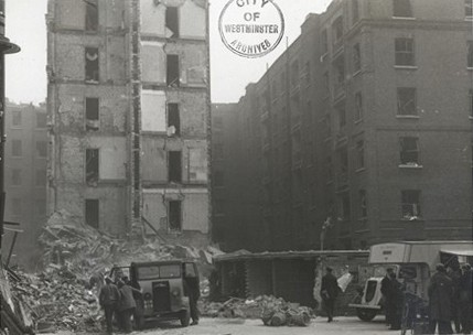 Photo:Damage to Newport Buildings, April 1941