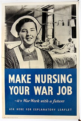 Photo:Nursing recruitment poster