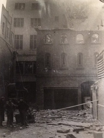 Photo:Back of the damaged London Library, February 1944