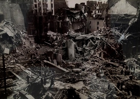Photo:Remains of the Orleans Club, King Street, St. James's, February 1944