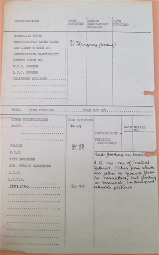 Photo:Incident report No 652, National Gallery damage, 12 October 1940