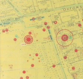 Photo:Bomb Map: V2 strike at Speakers' Corner, Hyde Park, 18 March 1945