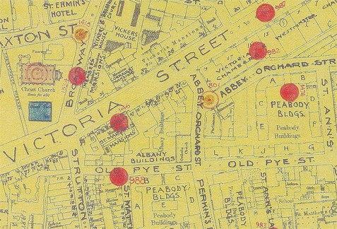 Photo:Bomb Map: Victoria Street and Abbey Orchard Street