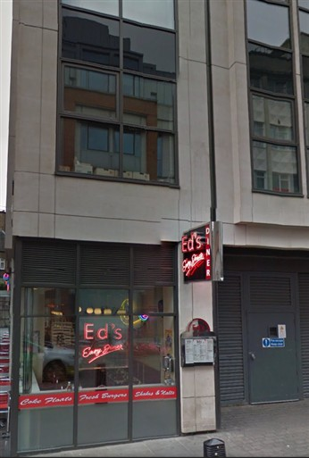 Photo:Ed's Diner at 14 Woodstock Street W1 is on the site of the unxploded bomb incident in April 1941.