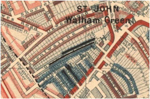 Photo:Charles Booth Poverty map for Fulham 1886