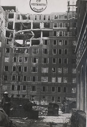 Photo:Damage to Frobisher House, Dolphin Square, 1940