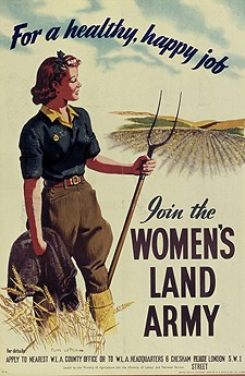 Photo:Advertisement for Women Land workers