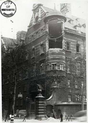 Photo:Bomb Damage, New Scotland Yard, May 1941