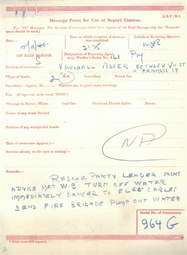 Photo:Bomb incident report 2