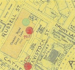 Photo:Bomb Map: Theatre Royal, Drury Lane